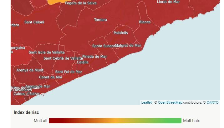 mapa calella web