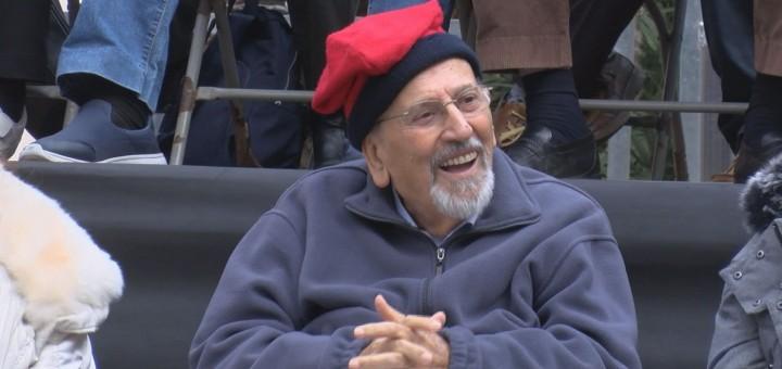 Jaume Pruna durant la festa de bateig del seu capgròs.