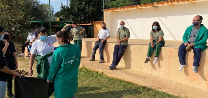 Membres del Taller Horitzó de la Fundació Marpi.