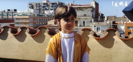 L'Arnau durant la interpretació del Cant de l'Àngel.