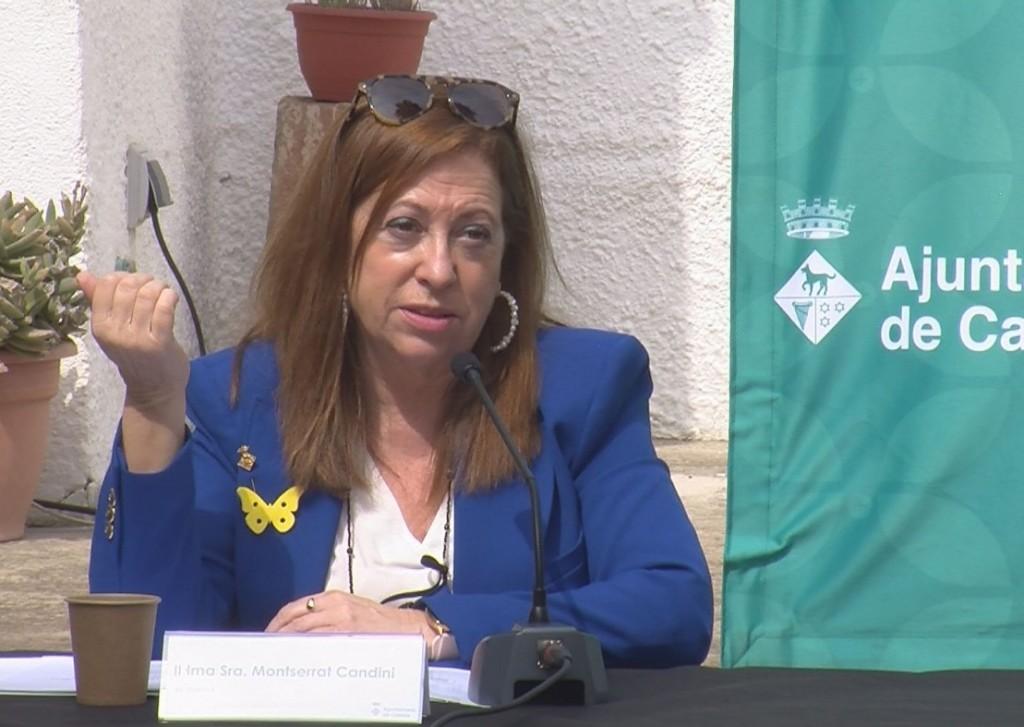 L'alcaldessa durant la roda de premsa de presentació de la Temporada Lírica