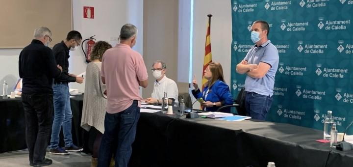 Els portaveus dels grups municipals en una sessió plenària a l'Ajuntament Vell (Foto: Arxiu)