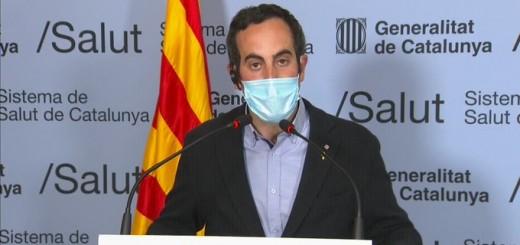 Marc Ramentol, secretari general de Salut, aquest migdia en roda de premsa