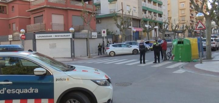 Imatge de l'operatiu policial a l'entorn de La Bruna