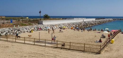 Model de platja a Barcelona.