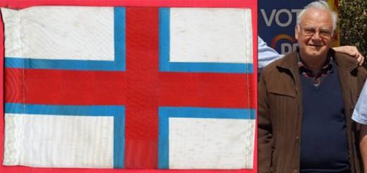 La bandera amb l'escut de Sant Jordi és el disseny que defensa el secretari del PP de Calella, Josep Maria Vila
