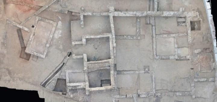 Imatge aèria del Jaciment del Roser després de les primeres setmanes d'excavació