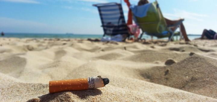 fumar a la platja