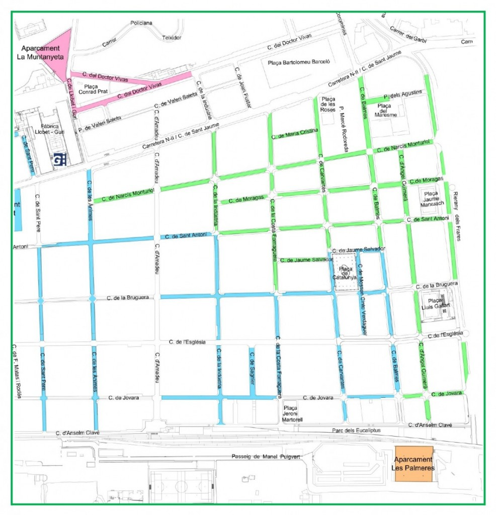 mapa zona verda