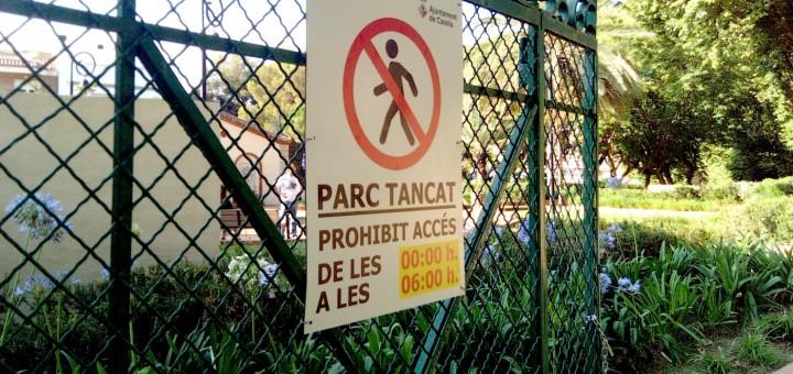 El Parc Dalmau estarà tancat a partir de mitjanit per evitar aglomeracions, seguint les indicacions del Govern català