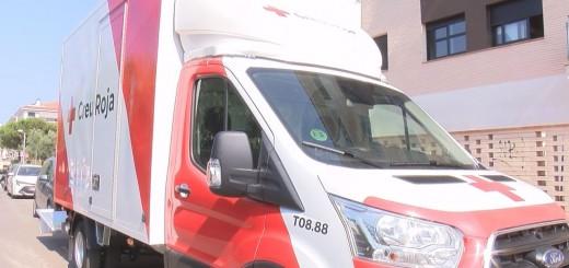 [Vídeo] El Rebost Solidari de Pineda estrena el nou camió de transport d'aliments
