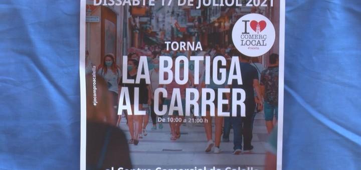 [Vídeo] Poca participació de comerços en la botiga al carrer