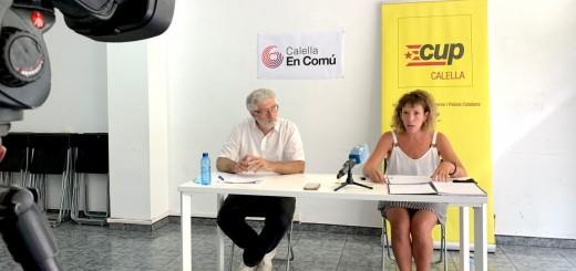 Sebastián Tejada (CEC) i Núria Freixas (CUP) han explicat que els recursos contra el projecte de l'Aldi inclouen mesures cautelars