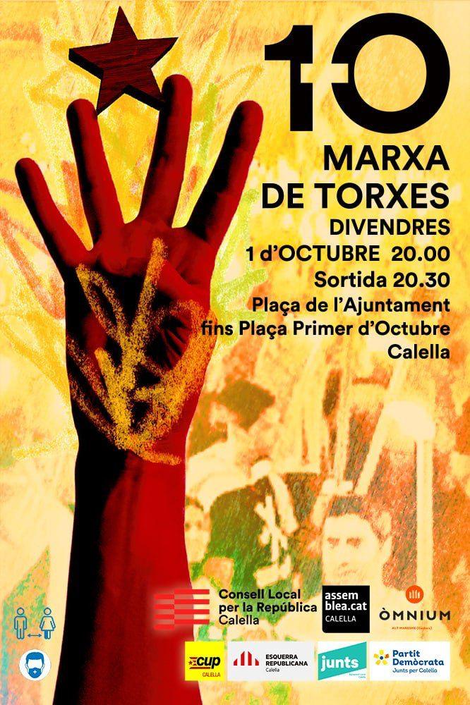 cartell marxa de torxes