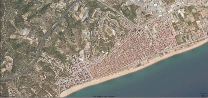 Imatge aèria del terme municipal de Calella (Font: Generalitat de Catalunya)