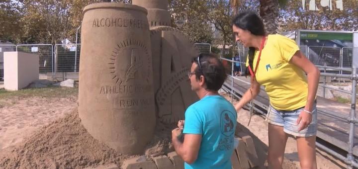 [Vídeo] Art efímer a la platja de Calella