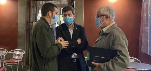 Canadell ahir en una visita a Calella.