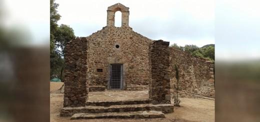 Estat actual de l'ermita de Sant Andreu de l'Arboceda, al parc natural del Montnegre
