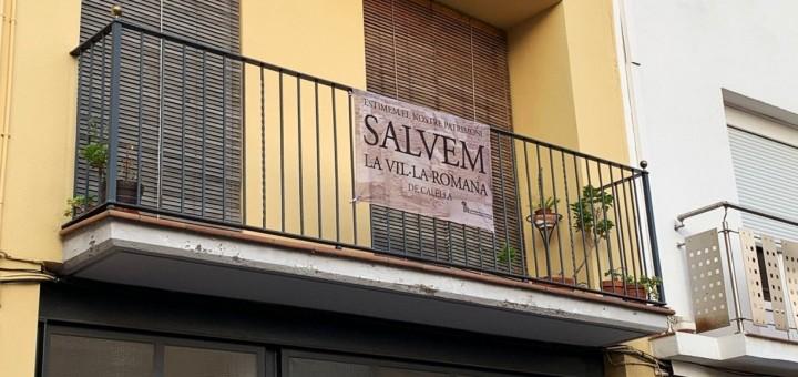 pancarta plataforma vil·la romana